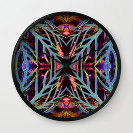 Found Colors Pattern Wall Clock