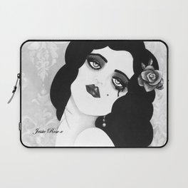 SINNER & SAINT  Death is only a Dream - Black n white  Laptop Sleeve