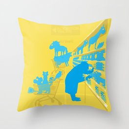 I don't know why she swallowed a fly... Throw Pillow
