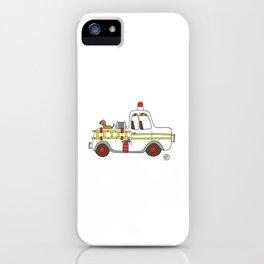vintage firetruck iPhone Case