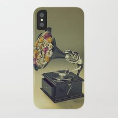 put some flowers in your guns iPhone X Slim Case