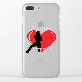 Unlock Heart Clear iPhone Case