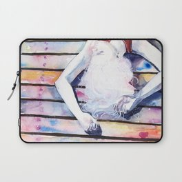 on the jetty, in the sun, her mind was elsewhere Laptop Sleeve