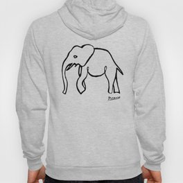 Pablo Picasso, Rare Elephant Drawing, Line Sketch Artwork, Prints, Posters, Bags, Tshirts, Men, Wome Hoody