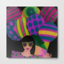 Fun With Coloring Balloons Metal Print