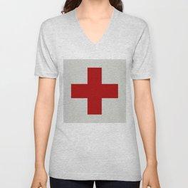 Remember Red Cross Unisex V-Neck