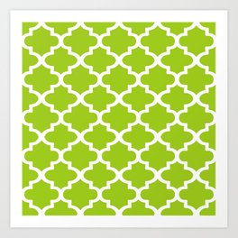 Arabesque Architecture Pattern In Lime Art Print