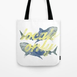 Locals Only Watercolor Tote Bag