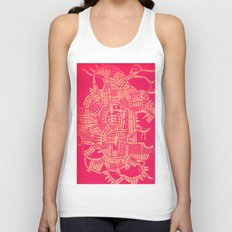 - the pink stencil - Unisex Tank Top
