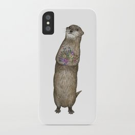 Otter and Flowers iPhone Case