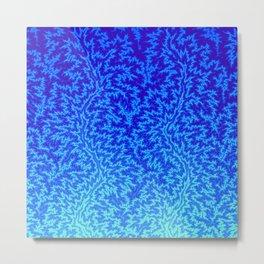 Fractal Gradient WATER Metal Print
