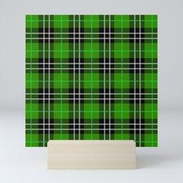 green plaid pattern Mini Art Print