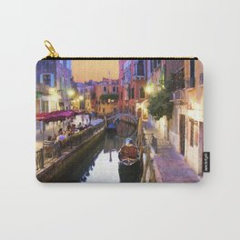 Sunset Alley In Venice Italy Carry-All Pouch