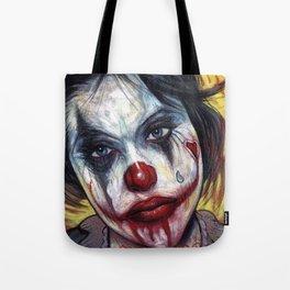 Portrait - Tattooed Valentine Clown Girl Tote Bag