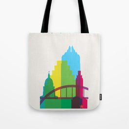 Shapes of Austin. Accurate to scale. Tote Bag