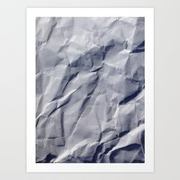 Crumpled paper Art Print
