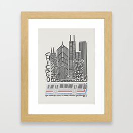Chicago Cityscape Framed Art Print
