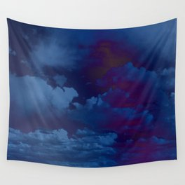 Clouds in a Stormy Blue Midnight Sky Wall Tapestry