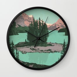 Jasper National Park Poster Wall Clock