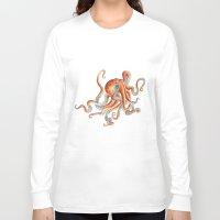octopus Long Sleeve T-shirts featuring Octopus by Patrizia Ambrosini