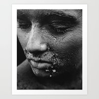 cracked Art Prints featuring cracked by deepinswim