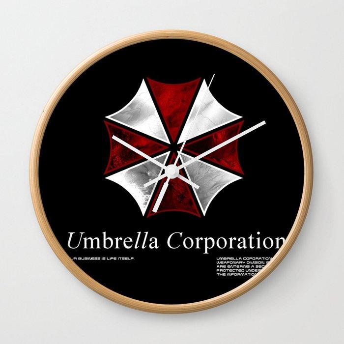 Resident Evil Umbrella Corporation Wall Clock By Liquidsugar Society6