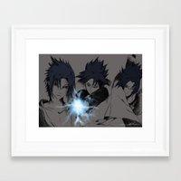 sasuke Framed Art Prints featuring Sasuke Uchiha  by nightfrost4