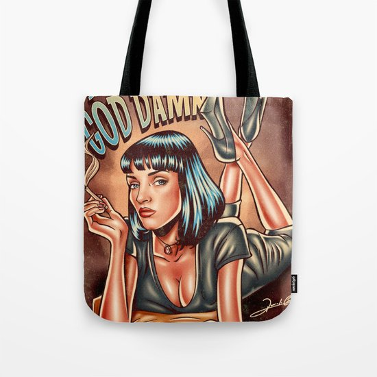 Mia Wallace - Pulp Fiction Tote Bag