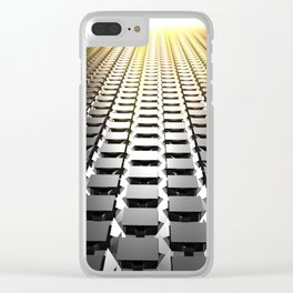 Cubic floor Clear iPhone Case