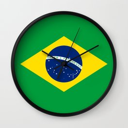 Brazil Flag Wall Clock