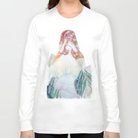 bianca Long Sleeve T-shirts featuring fata bianca by Francesca D'Angelo