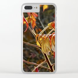 Fall Sumac Leaves during a Michigan Autumn Clear iPhone Case