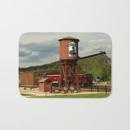 Water Tower Of The Black Hills Central Railroad Bath Mat