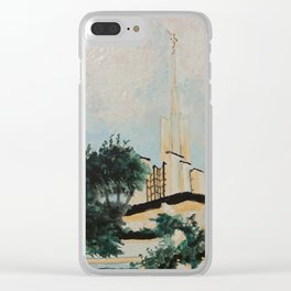 Golden Hour at the Atlanta, GA Temple Clear iPhone Case