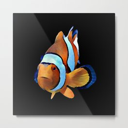 Art Clown Fish Metal Print
