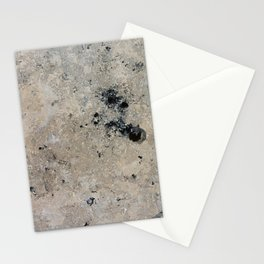 Abstract vintage black gray ivory marble Stationery Cards