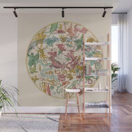 Aries Antique Astrology Zodiac Pictorial Map Wall Mural