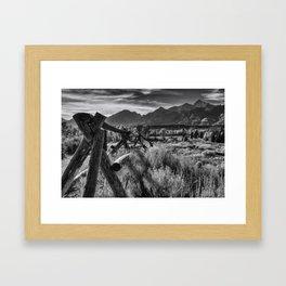 Buck and Rail to the Tetons Framed Art Print