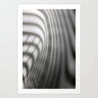 light and shadow - blinds at sink corner Art Print