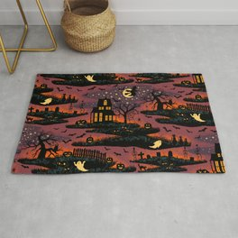 Halloween Night - Bonfire Glow Rug