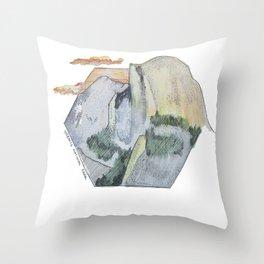 Yosemite National Park - Half Dome Throw Pillow