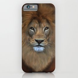 The Lion Known As King Of The Beasts iPhone Case