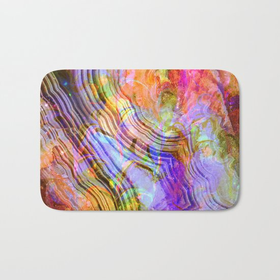 abstract crystal x Bath Mat