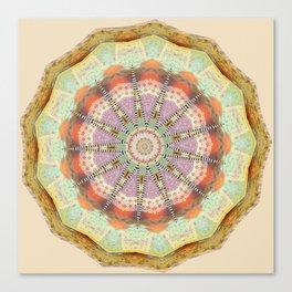 Bohemian Spirit Peace Mandala Canvas Print