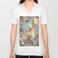 renaissance V-neck T-shirts featuring Renaissance Triangle Pyramids by Suburban Bird Designs