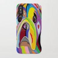 english bulldog iPhone & iPod Cases featuring Bulldog by EloiseArt