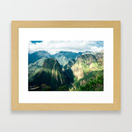 Beside Machu Picchu Framed Art Print