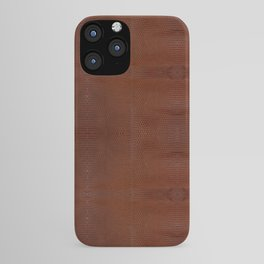Burnt Orange Leather iPhone Case