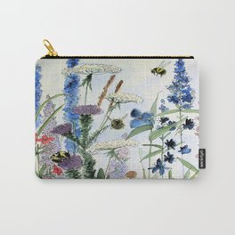 Wildflower in Garden Watercolor Flower Illustration Painting Carry-All Pouch
