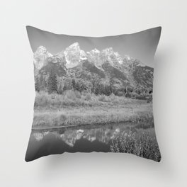 Snow Capped Mountains and a Reflection Throw Pillow